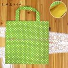 Fuuka Japanese Popular Present Green Polka Dot Washable Foldable Polyester Leisure Luggage Shopping Handbag Travel Tote Bag