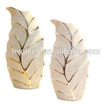 porcelain gold & silver vase