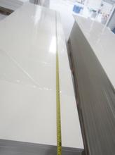 Pure artificial marble materials non-toxic environment 75% snow white color acrylic sheet