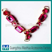 Guangzhou fashion jewelry lady vamp decoration shoe uppers