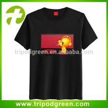 hip hop sound active/music/voice lighting up el equalizer t-shirt