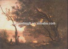 handmade nature sunset rock landscape oil paintings