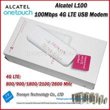 2014 New Arrival Original Unlock LTE FDD 100Mbps Alcatel L100 4G LTE Modem Support LTE 800/900/1800/2100/2600MHz