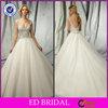 EDW497 Ball Gown Heavy Crystal Cut Neck Low Cut Back Beautiful Pakistani Wedding Dresses