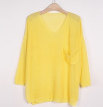 Z81011A 2014 summer korean fashion newest casual loose ladies sweaters lady sweaters woman sweaters