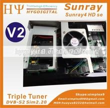 Wifi Sunray 800 hd se triple tuner Rev E V2 Decoder Samsat Sunray4 hd se sr4 Sunray sr4 v2 sim 2.20 card Linux Decoder