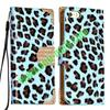 Leopard Pattern Flip Leather Case for iphone 5 with a Diamond Magnetic Buckle and Card Slots