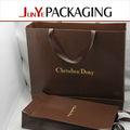 Saco de papel de alta qualidade de vestuário de luxo/sapatos usados reciclável reciclável saco de papel kraft para fazer compras