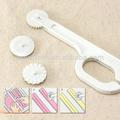 Pasta de azúcar azúcar sugarpaste arte impresora& costura cortador de la herramienta ruedas 3 decoración de pasteles