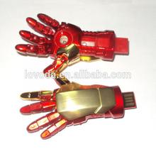 iron man hand 256gb usb flash drive made in china/usb water heater /bluetooth usb flash drive LFN-057
