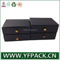 Personnalisé de luxe décoratif noir carton tiroir emballage cadeau boîte