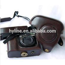 light brown PU Camera case camera bag for Canon G10 G11 G12 G15