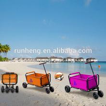 Folding Beach Trolley Cart with Four Wheels