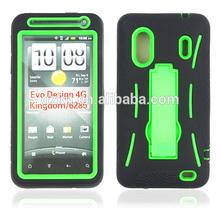 Heavy duty rugged kickstand combo silcone case for HTC EVO Design 4G