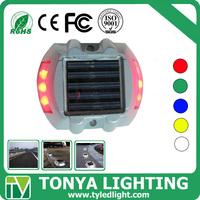 led solar stud light green blue white yellow red flashing solar led traffic light