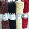 Foam backed removable long pile washable decorative polyester cut pile carpet tiles