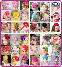 Top Wholesale Kids Hair Accessories for Baby Girls Chiffon Fabric Elastic Flower Headband