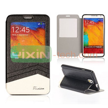 Caller ID Window Design for Samsung Galaxy Note 3 Foldable Flip leather Case cover