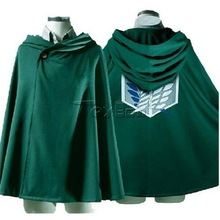 HOT Anime Shingeki No Kyojin Attack on Titan Survey Corps Eren Levi Cosplay Cloak Hoodie Costume