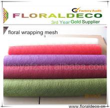 Floral Deco Mesh Wrap