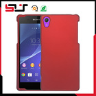 New style rubberised PC hard cell phone case for sony xperia z2