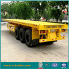 40ft 20ft low flatbed chengda semi trailer in Chinese factory