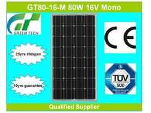 GT80-16-M 80W 16V mono solar panel price