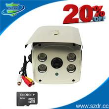 IP66 Housing Waterproofing Infrared Camera Night Vision TF Card CCTV Camera