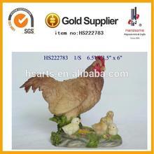 garden life size animal hen resin statues
