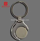 Rotatable key Chain Spinning Key Ring Souvenir Key Fob Blank keychain
