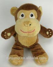 Brown Tan Monkey ,Baby Toy ,Tear Drop Eyes, Pink Lips ,Plush Stuffed Animal