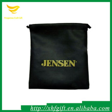Logo printed chinese silk jewellery pouch