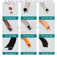 Rubber & Plastice protective car trunk edge/auto glass edge rubber/rubber car edge trim