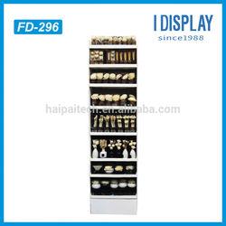 tiers cardboard floor display racks for flowers knick-knack retail
