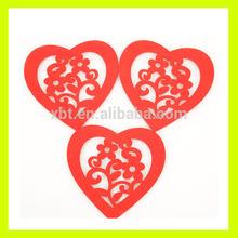 Creative design Loving heart Felt Coaster Mat