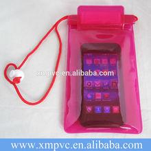 Plastic Pink Mobile Waterproof Bag XYL-D-W090