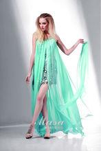2014 bright-colored youthful green Spaghetti Strap short sheath and sexy evenin/ casual dress