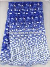 2014 latest design royal blue french lace 5 yards FL0008