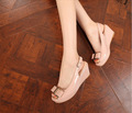2014 verão meninas rosa meados- salto cunha sandália agradável novo modelo das mulheres sandália da moda verão conforto cunhas sandálias das senhoras