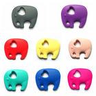 Silicone Elephant Teething Pendant