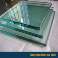Lt fábrica china 3-19mm de espesor de vidrio templado claro las tasas