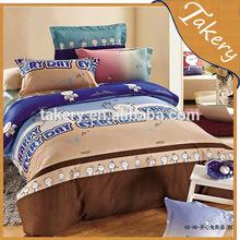 twin size cotton kids carton bedding set