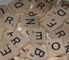 wood scrabble tiles game