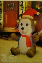 inflatable husky puppy,inflatable christmas,wholesale christmas inflatables