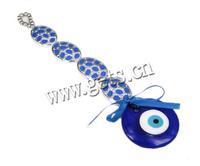 lampwork circle hanging earrings