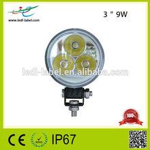 3 inch 9w led work light waterproof ip67 led work light 4wd