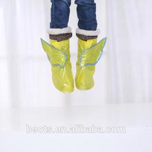 2014 new design kids rain boots suit for rain coat