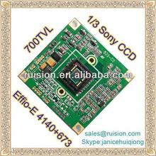 700TVL Sony pcb camera board 1/3 Sony CCD module Effio-E 4140+673
