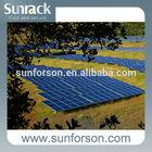 Ground solar power system screw pile foundaton galvanized solar panel mounting