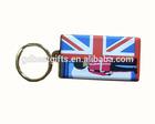 newest flag soft pvc keychain custom design